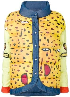 Tsumori Chisato reversible printed denim puffer jacket