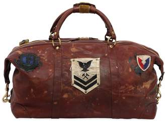 Ghurka Surplus Cavalier Ii Leather Duffle Bag W/ Patch
