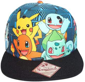 Bioworld Men's Licensed Pokemon Characters All Over Sublimated Snapback Hat O/S