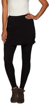 Legacy Ruched Cotton Ankle Length Skirted Leggings