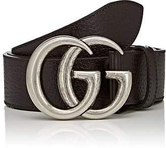 Gucci Men's Double G Leather Belt - Dk. brown