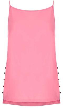 Mint Velvet Pink Button Side Cami
