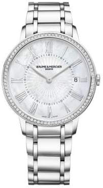Baume & Mercier Classima 10227 Diamond, Mother-Of-Pearl& Stainless Steel Bracelet Watch