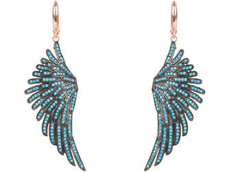 Rosegold Latelita - Angel Wing Drop Earring Turquoise Blue