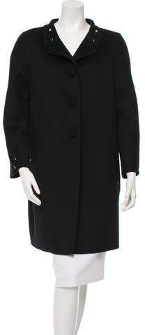 ValentinoValentino Wool Button-Up Coat