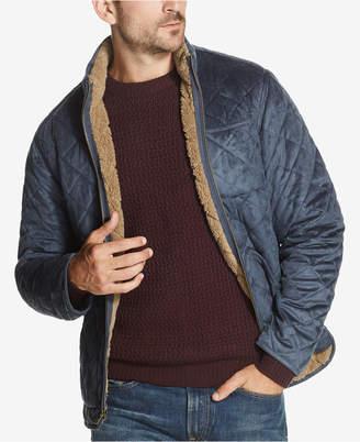 Weatherproof Vintage Men's Quilted Faux-Suede Fleece-Lined Jacket