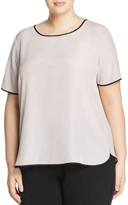 Marina Rinaldi Balsamo Contrast-Piping Top