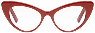 Saint Laurent Red Bold Cat Eye Glasses
