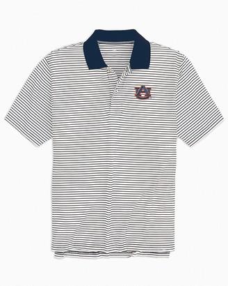 Southern Tide Auburn Tigers Pique Striped Polo Shirt
