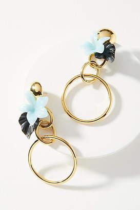 Lele Sadoughi Hibiscus Bouquet Drop Earrings