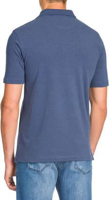 Isaia Washed Pique Polo Shirt