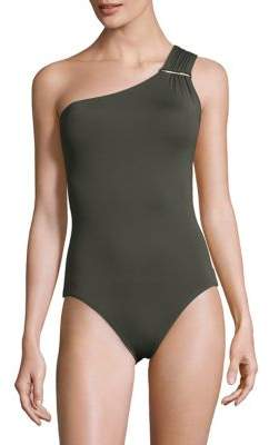 Michael Kors One-Piece One-Shoulder Swimsuit
