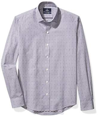 Buttoned Down Men's Slim Fit Supima Cotton Spread-Collar Pattern Dress Casual Shirt