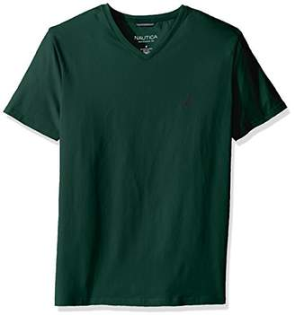Nautica Men's Short Sleeve Solid Slim Fit V-Neck T-Shirt
