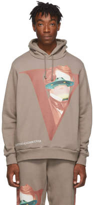 Undercover Grey Valentino Edition V Face UFO Print Hoodie