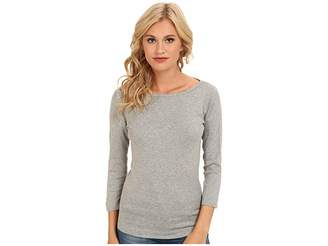 Three Dots 100% Cotton Heritage Knit 3/4 Sleeve British Tee