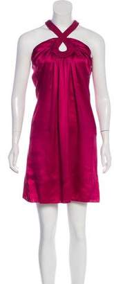 Galliano Satin Knee-Length Dress
