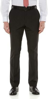 Savile Row Big & Tall Striped Black Suit Pants