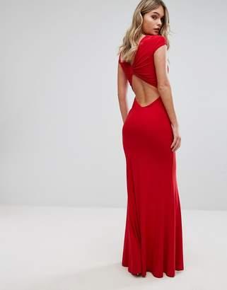 Club L Slinky Bow Back Maxi Dress