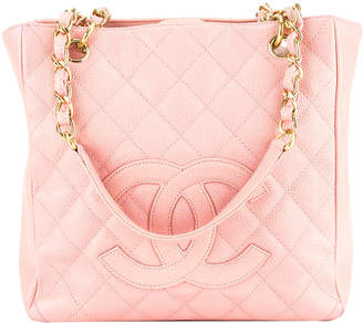 Chanel Pink Quilted Calfskin Leather Petit Shopping Tote