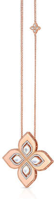 """Roberto Coin Venetian Princess 18k Rose Gold Mother-of-Pearl Cutout Necklace with 2"""" Pendant"""