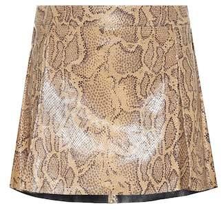 Chloé Python-printed leather miniskirt