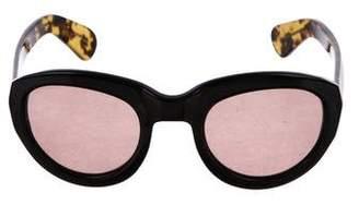 Dries Van Noten Linda Farrow x Tinted Tortoiseshell Sunglasses