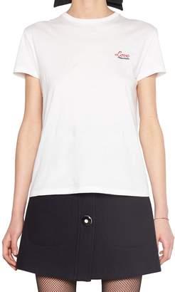 Miu Miu 'love Miu Miu' T-shirt