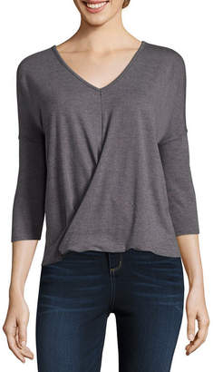 A.N.A 3/4 Sleeve Twist Front Top