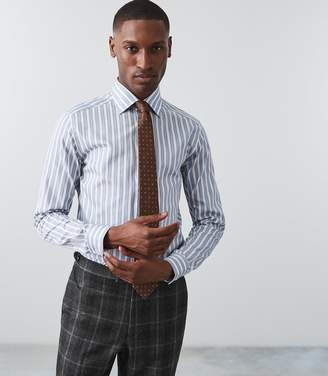 Reiss Antonio Slim Fit Block Striped Shirt