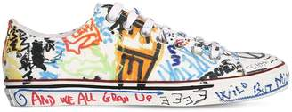 Vetements 20mm Graffiti Canvas Sneakers