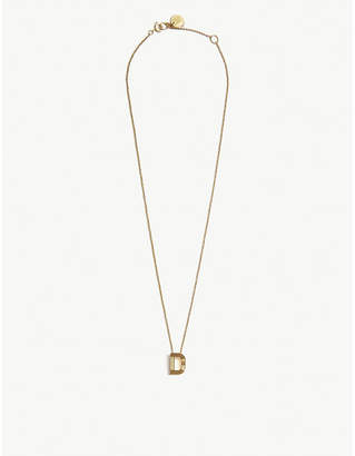 Maje D initial necklace
