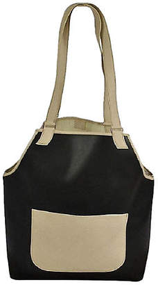 One Kings Lane Vintage HermAs Black & Cream Leather Tote