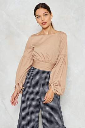 Nasty Gal Cast Your Tie Over It Crop Top