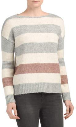 Bold Stripe Wool Blend Sweater