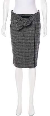 J. Mendel Velvet-Trimmed Metallic Skirt