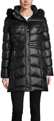 Liz Claiborne Water Resistant Heavyweight Puffer Jacket-Tall