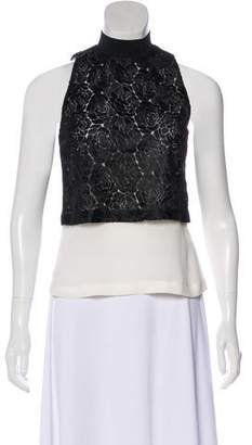A.L.C. Embroidered Sleeveless Top