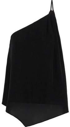 Joie Alaqua One-Shoulder Silk-Chiffon Top