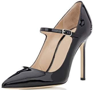 Sammitop Women's Pointed Toe Mary Jane Stiletto Heel Classic Dress Pumps Size US5