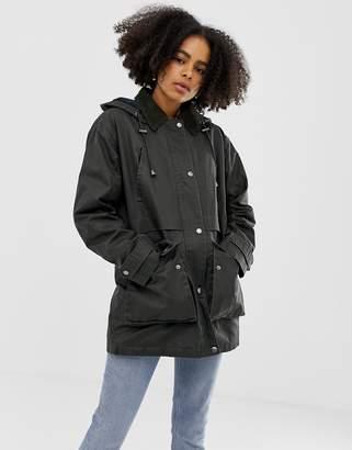 Asos DESIGN wax look jacket