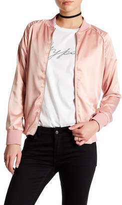 Sincerely Jules Satin Bomber Jacket $180 thestylecure.com