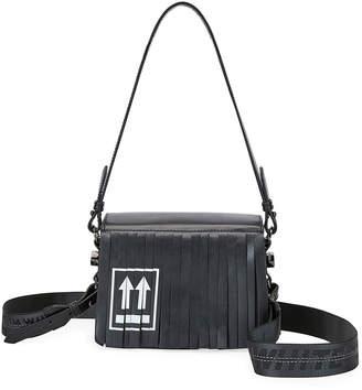 Off-White Off White Fringed Leather Flap Shoulder Bag