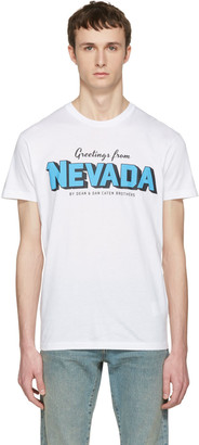 Dsquared2 White Nevada T-Shirt $255 thestylecure.com