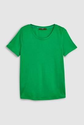 Next Womens Blue Luxe Crew Neck T-Shirt
