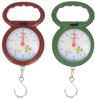 Embiofuels(TM) Mini 10kg Portable Kitchen Scale Fishing Hook Weighing Scales Arabic Numeral Pointer Pocket Hanging Scales