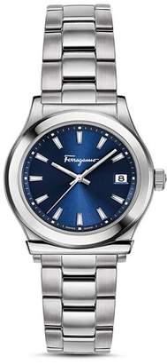 Salvatore Ferragamo 1898 Blue Bracelet Watch, 28mm