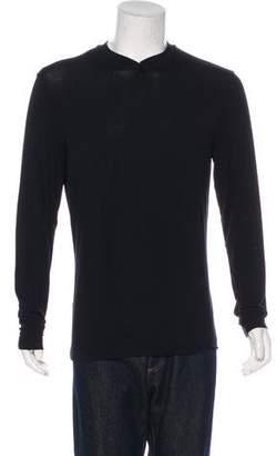 Armani Collezioni Printed Henley T-Shirt