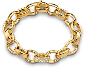 Monica Rich Kosann Marilyn Extra Large Ultra Pave Diamond 18k Bracelet