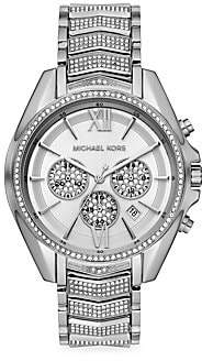 Michael Kors Women's Whitney Pavé Stainless Steel Chronograph Watch